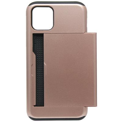 ADEL Kunststof Back Cover Hardcase hoesje voor iPhone 11 - Pasjeshouder Bruin
