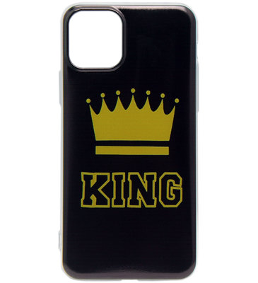 ADEL Siliconen Back Cover Softcase hoesje voor iPhone 11 Pro Max - King