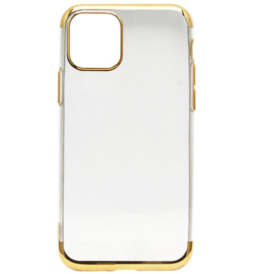 ADEL Siliconen Back Cover Softcase hoesje voor iPhone 11 Pro Max - Bling Bling Goud