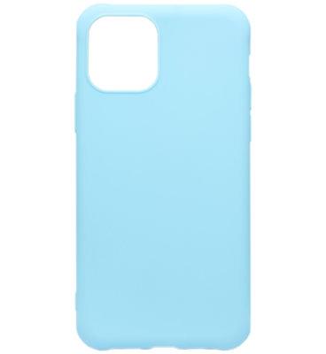 ADEL Siliconen Back Cover Softcase hoesje voor iPhone 11 - Lichtblauw