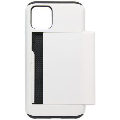 ADEL Kunststof Back Cover Hardcase hoesje voor iPhone 11 Pro - Pasjeshouder Wit