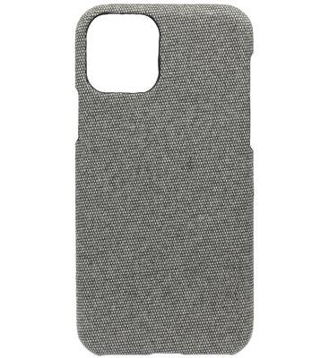 ADEL Kunststof Back Cover Hardcase hoesje voor iPhone 11 Pro - Stoffen Design Grijs