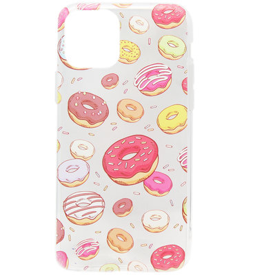 ADEL Siliconen Back Cover Softcase hoesje voor iPhone 11 Pro Max - Donuts