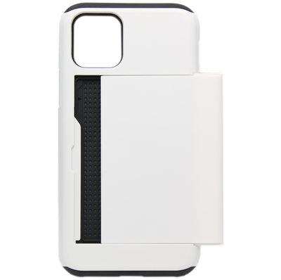 ADEL Kunststof Back Cover Hardcase hoesje voor iPhone 11 Pro Max - Pasjeshouder Wit