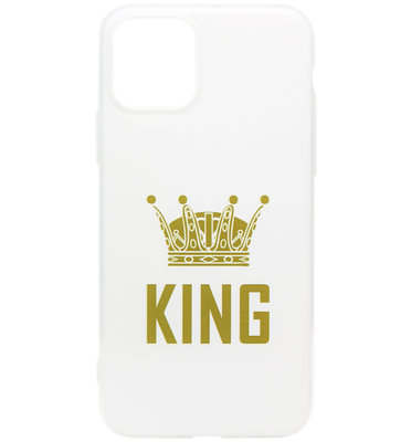 ADEL Siliconen Back Cover Softcase hoesje voor iPhone 11 - King Goud