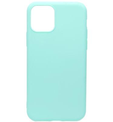 ADEL Siliconen Back Cover Softcase hoesje voor iPhone 11 - Groenblauw