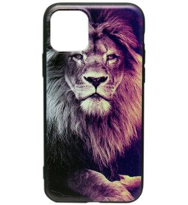 ADEL Siliconen Back Cover Softcase hoesje voor iPhone 11 - Leeuw