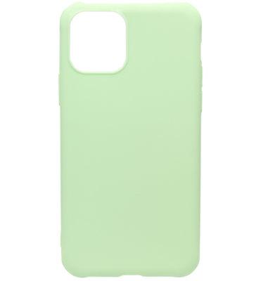 ADEL Siliconen Back Cover Softcase hoesje voor iPhone 11 Pro Max - Lichtgroen