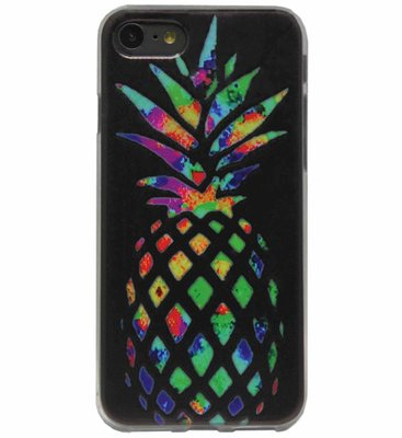 ADEL Siliconen Back Cover Softcase Hoesje voor iPhone SE (2020)/ 8/ 7 - Ananas Kleur