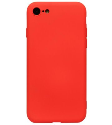 ADEL Premium Siliconen Back Cover Softcase Hoesje voor iPhone 8/7 - Rood