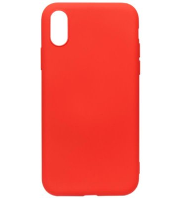 ADEL Premium Siliconen Back Cover Softcase Hoesje voor iPhone XS/X - Rood