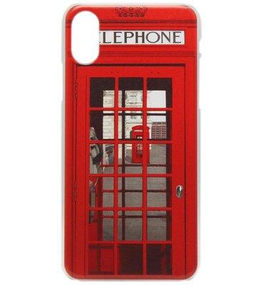ADEL Kunststof Back Cover Hardcase Hoesje voor iPhone XS/X - Londen Telefooncel