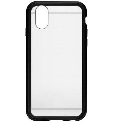 ADEL Magnetisch Kunststof 360 Graden Full Body Cover Hoesje voor iPhone XS/X - Zwart