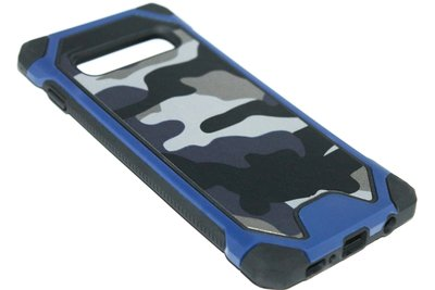 Camouflage hoesje blauw Samsung Galaxy S10