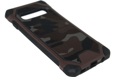 Camouflage hoesje bruin Samsung Galaxy S10 Plus