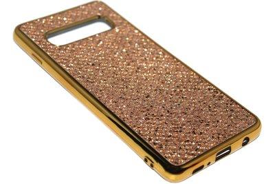 Bling bling hoesje goud Samsung Galaxy S10