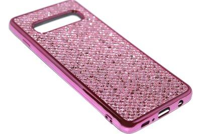 Bling bling hoesje roze Samsung Galaxy S10