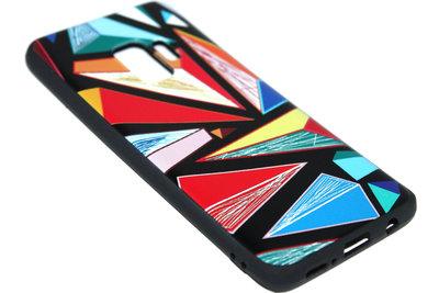 Driehoeken siliconen hoesje Samsung Galaxy S9 Plus