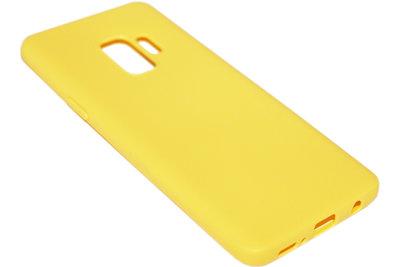 Geel siliconen hoesje Samsung Galaxy S9 Plus