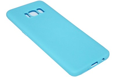 Blauw siliconen hoesje Samsung Galaxy S8 Plus