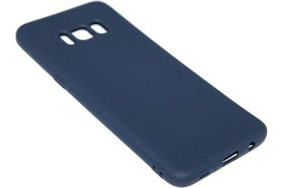 Donkerblauw siliconen hoesje Samsung Galaxy S8 Plus