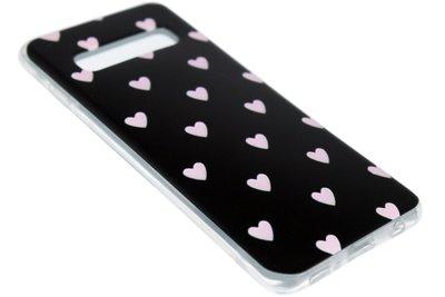Roze hartjes siliconen hoesje Samsung Galaxy S10