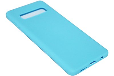 Blauw siliconen hoesje Samsung Galaxy S10