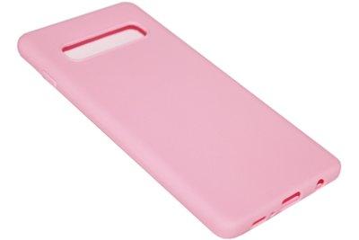 Roze siliconen hoesje Samsung Galaxy S10