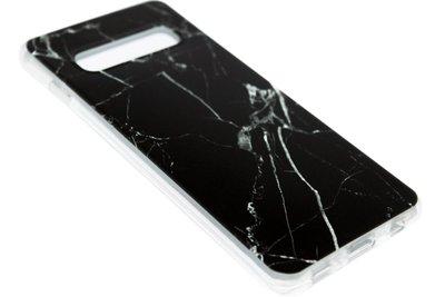 Zwart marmer siliconen hoesje Samsung Galaxy S10