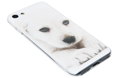 ADEL Siliconen Back Cover Hoesje voor iPhone 8/7 - Blonde Labrador Hond