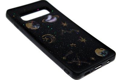 ADEL Siliconen Back Cover Hoesje voor Samsung Galaxy S10 - Heelal Ruimte