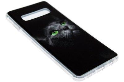 ADEL Siliconen Back Cover Hoesje voor Samsung Galaxy S10 - Katten