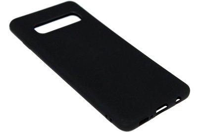 ADEL Siliconen Back Cover Hoesje voor Samsung Galaxy S10 - Zwart