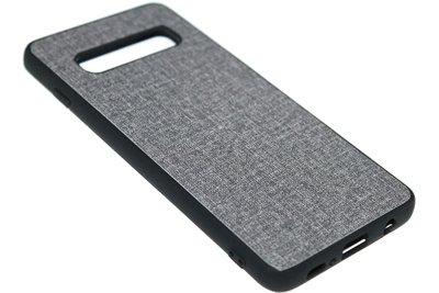 ADEL Siliconen Back Cover Hoesje voor Samsung Galaxy S10e - Stoffen Design Grijs
