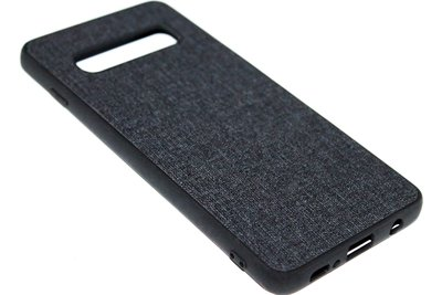 ADEL Siliconen Back Cover Hoesje voor Samsung Galaxy S10e - Stoffen Design Zwart