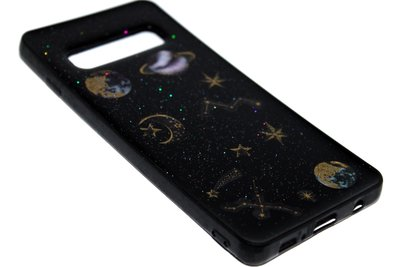 ADEL Siliconen Back Cover Hoesje voor Samsung Galaxy S10e - Heelal Ruimte