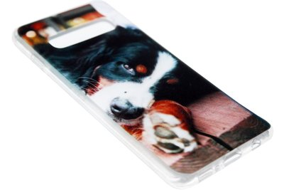 ADEL Siliconen Back Cover Hoesje voor Samsung Galaxy S10 Plus - Berner Sennenhond