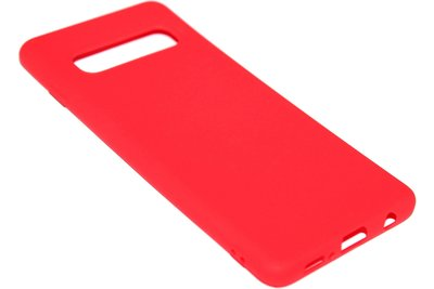ADEL Siliconen Back Cover Hoesje voor Samsung Galaxy S10 Plus - Rood
