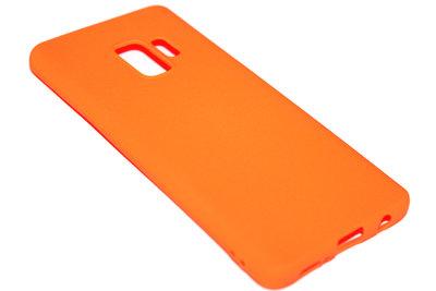 ADEL Siliconen Back Cover Hoesje voor Samsung Galaxy S9 - Oranje