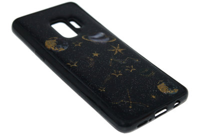 ADEL Siliconen Back Cover Hoesje voor Samsung Galaxy S9 - Ruimte Heelal