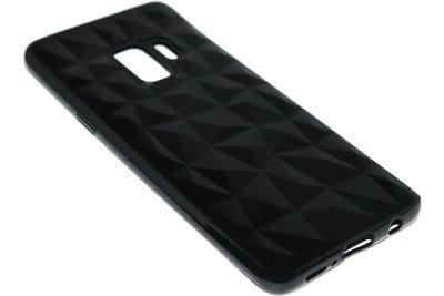 ADEL Siliconen Back Cover Hoesje voor Samsung Galaxy S9 Plus - Diamanten Zwart