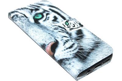ADEL Kunstleren Book Case Hoesje voor Samsung Galaxy S9 Plus - Tijger Wit