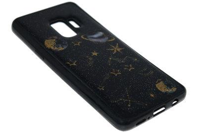 ADEL Siliconen Back Cover Hoesje voor Samsung Galaxy S9 Plus - Ruimte Heelal