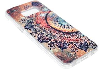 ADEL Siliconen Softcase Back Cover Hoesje voor Samsung Galaxy S8 Plus - Mandala Bloem