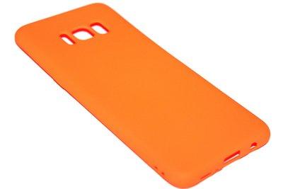 ADEL Siliconen Softcase Back Cover Hoesje voor Samsung Galaxy S8 Plus - Oranje