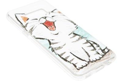 ADEL Siliconen Softcase Back Cover Hoesje voor Samsung Galaxy S8 Plus - Schattige Kat