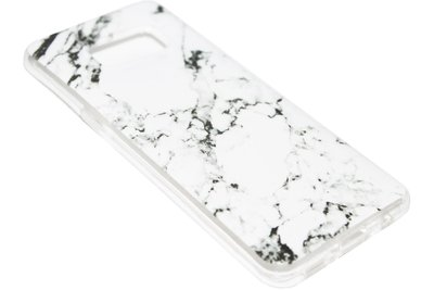 ADEL Siliconen Softcase Back Cover Hoesje voor Samsung Galaxy S8 Plus - Marmer Wit