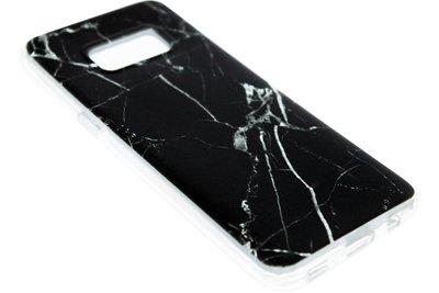 ADEL Siliconen Softcase Back Cover Hoesje voor Samsung Galaxy S8 Plus - Marmer Zwart