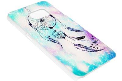 ADEL Kunststof Back Cover Hardcase Hoesje Samsung Galaxy S6 Edge - Dromenvanger Lichtblauw