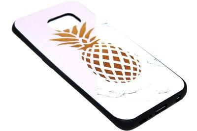 ADEL Siliconen Back Cover Softcase Hoesje Samsung Galaxy S6 Edge - Gouden Ananas